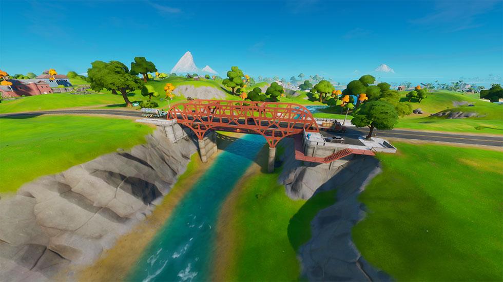 Ponte de aço vermelha