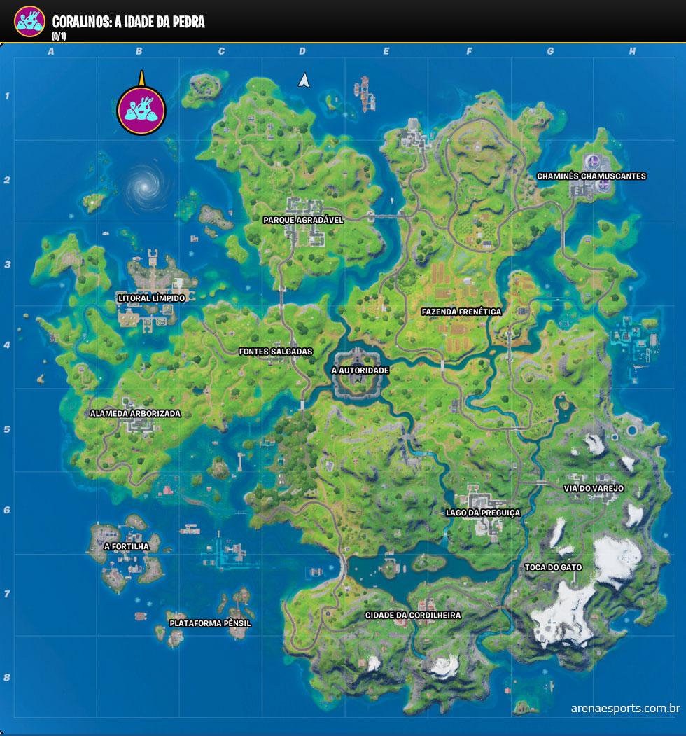Localização dos Coralinos: Idade da Pedra