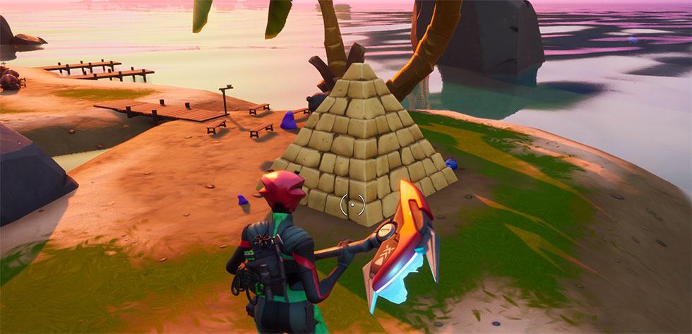 Ao encontrar o material, os Coralinos constroem uma pirâmide