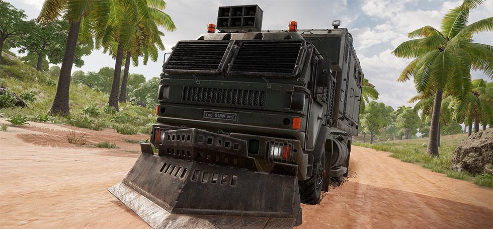 Caminhão de Loot dará itens aos jogadores (Imagem: PUBG Corp/Reprodução)