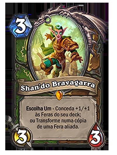 Carta de classe dupla Shan'do Bravagarra (Imagem: Blizzard/Reprodução)