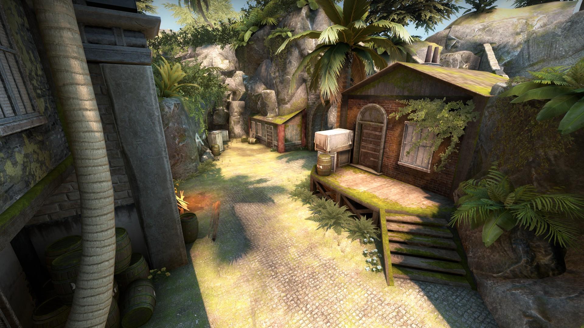 Mutiny se passa em uma ilha tropical (Imagem: CS:GO)
