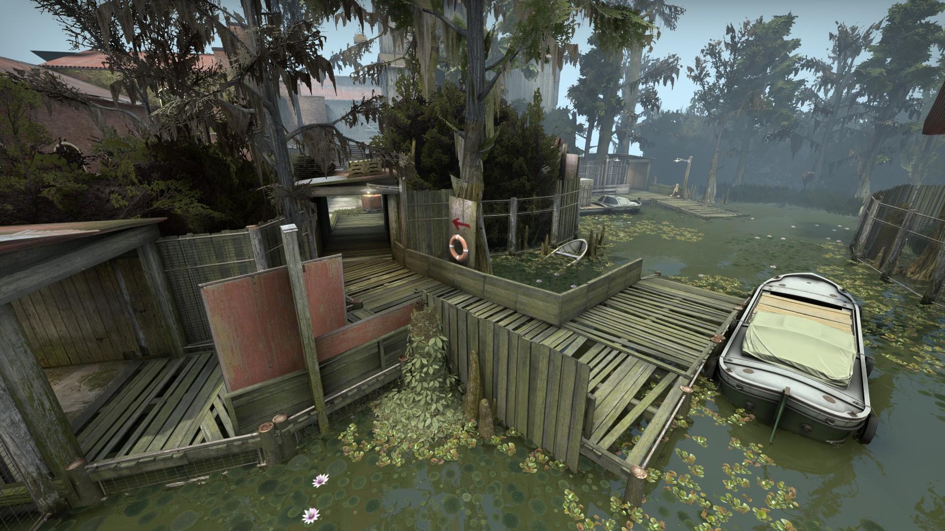 Swamp se passa numa indústria abandonada. (Imagem: CSGO)