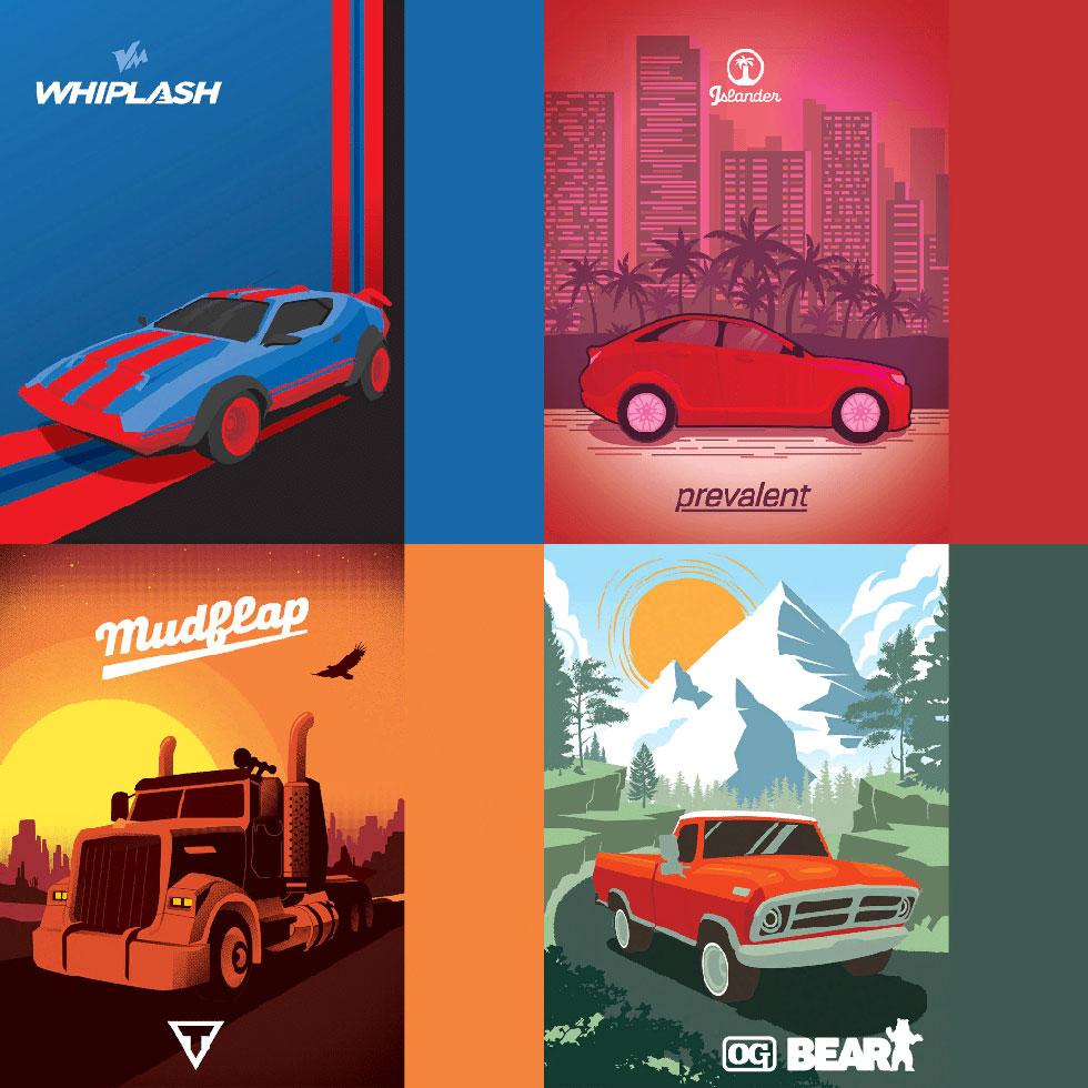 Quatro modelos de carros diferentes serão adicionados (Imagem: Epic Games)