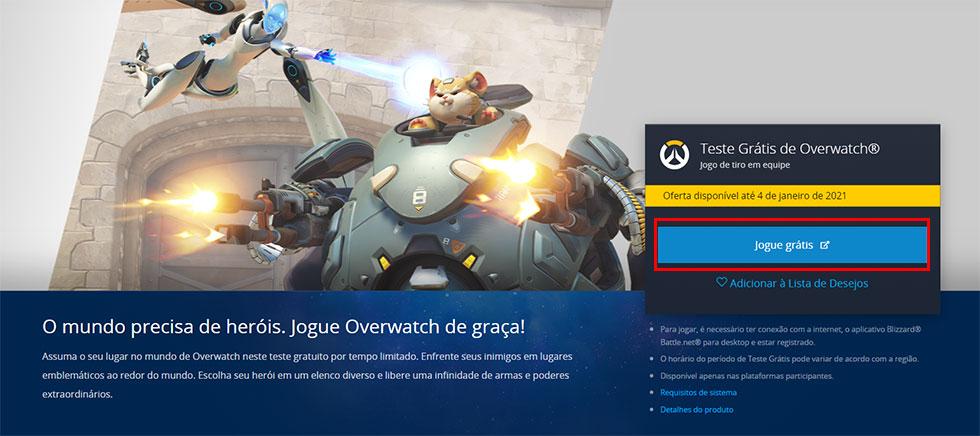 Overwatch poderá ser jogado de graça até 4 de janeiro (Imagem: Blizzard/Reprodução)