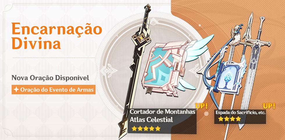 """""""Arma do Albedo"""" será um dos destaques do novo banner de equipamentos (Imagem: miHoYo/Reprodução)"""