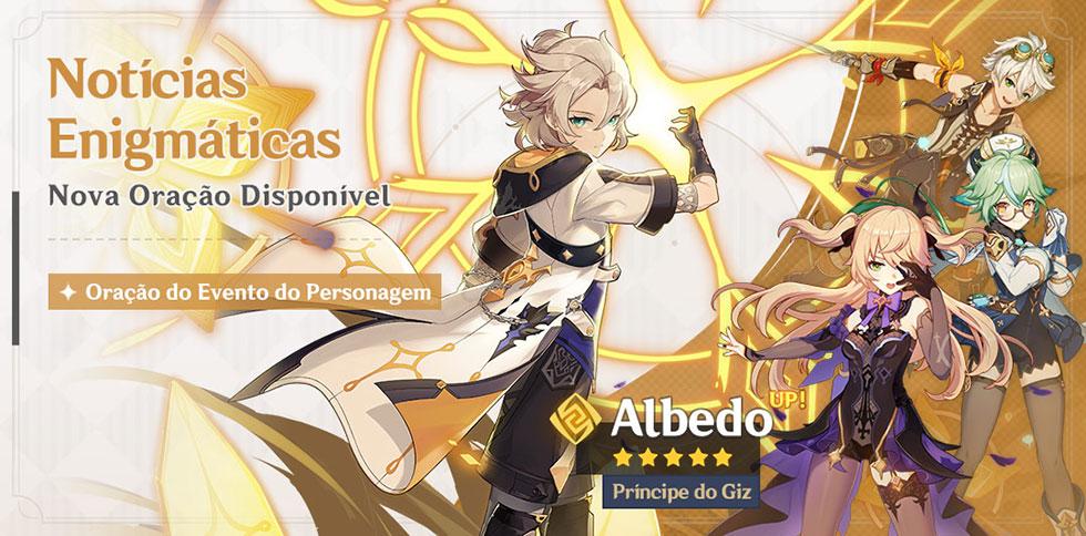 Banner de Oração de Evento do Albedo (Imagem: miHoYo/Reprodução)