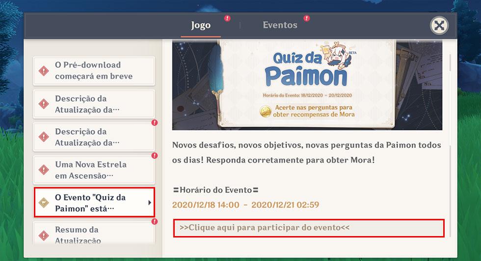 Para acessar o evento você deve ir até a tela de anúncios (Imagem: Reprodução)
