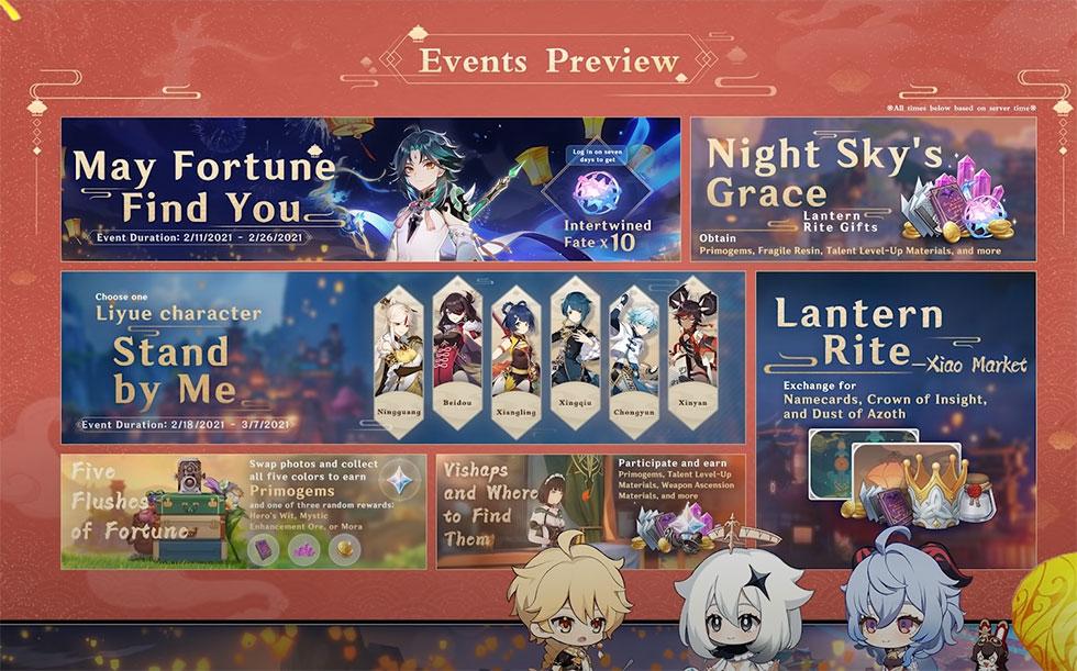 Evento será lançado no dia 3 de fevereiro (Imagem: miHoYo/Reprodução)