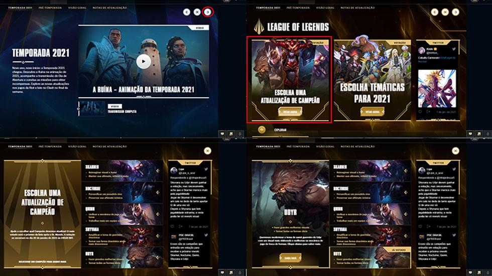 Voto é dado através do Cliente do jogo (Imagem: Reprodução)