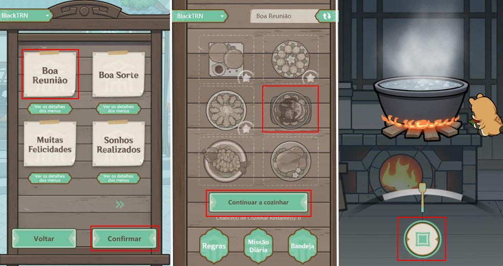 Cada menu dá um prêmio diferente; no total, será possível completar 3 menus (Imagem: Montagem)