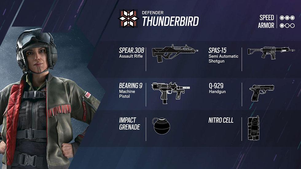 Loadout de Thunderbird (Imagem: Ubisoft/Reprodução)