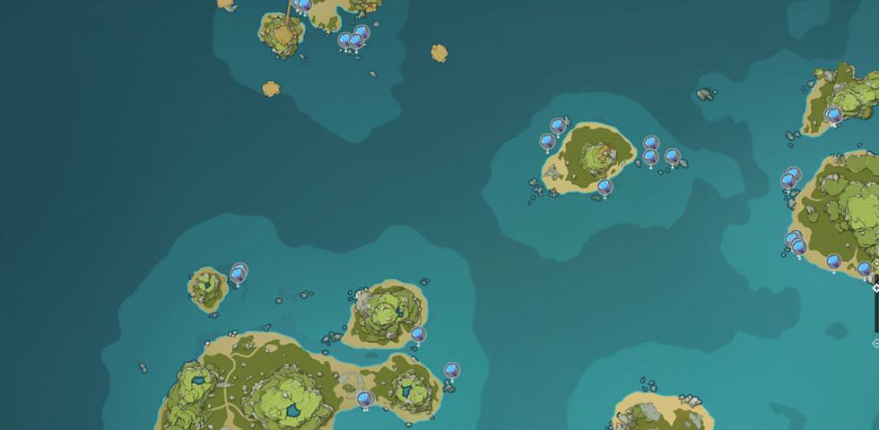 (Imagem: Mapa Interativa da miHoYo)