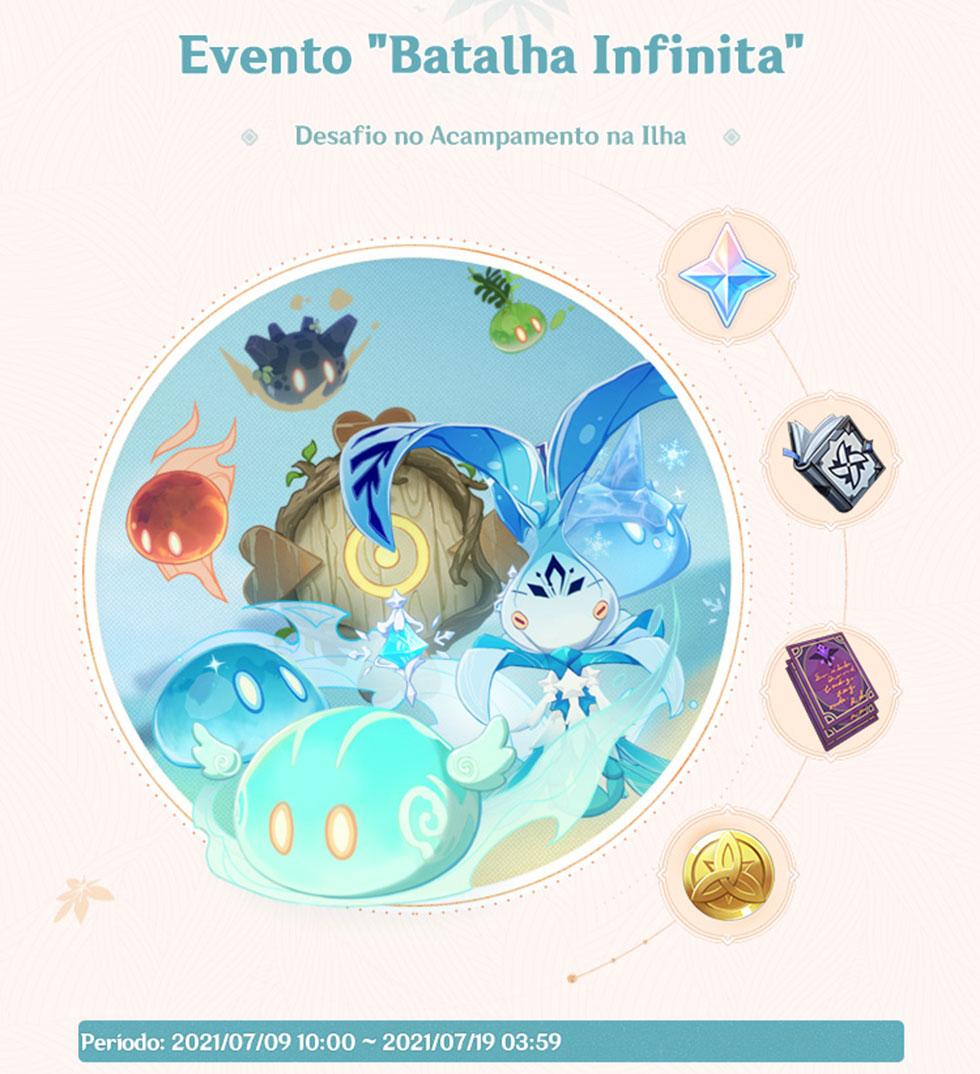 Evento Batalha Infinita (Imagem: miHoYo/Reprodução)