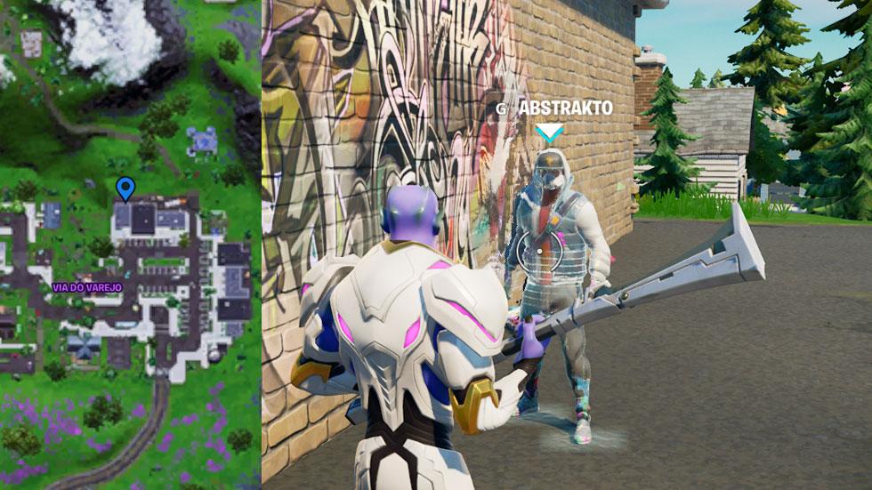 Abstrakto em Fortnite (Imagem: Montagem/Reprodução)