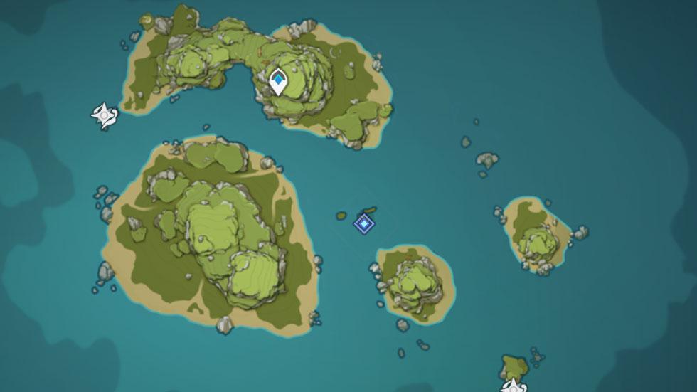 Localização do baú é mostrada no mapa enquanto se faz a missão (Imagem: Reprodução)