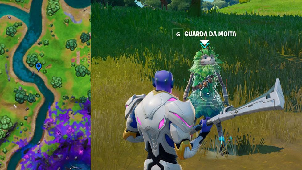 Guarda da Moita em Fortnite (Imagem: Montagem/Reprodução)