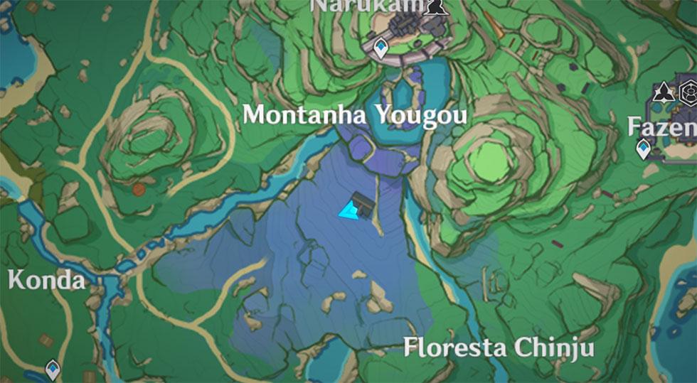 Santuário fica próximo da Montanha Yougou