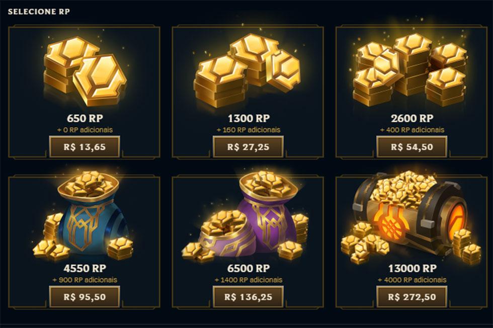 Promoção aumenta a quantidade bônus de RP ganha na compra (Imagem: Riot Games)